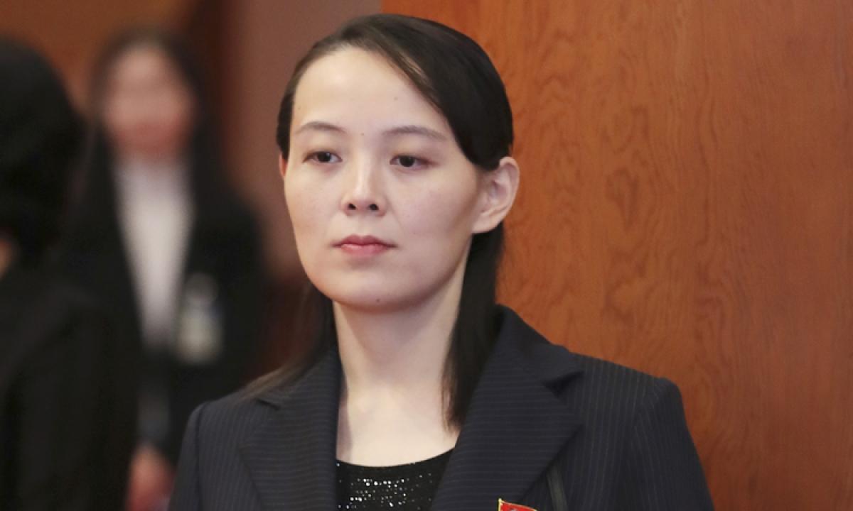 Bà Kim Yo-jong, em gái lãnh đạo Triều Tiên Kim Jong-un. Ảnh: Yonhap.