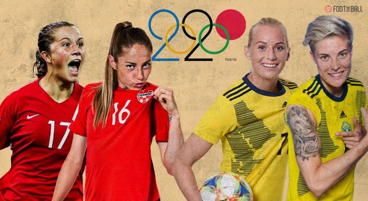 Canada và Thuỵ Điển sẽ tranh HCV môn bóng đá nữ Olympic Tokyo