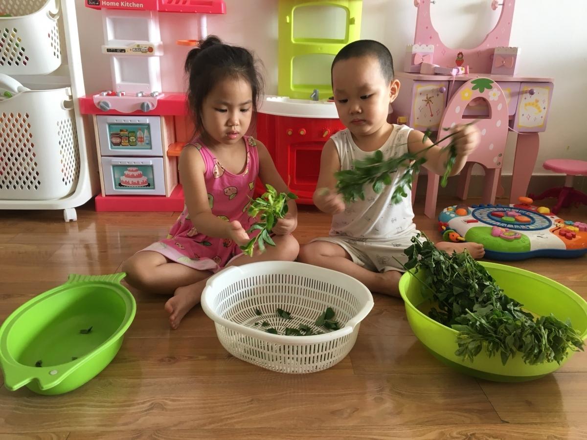 Dạy các con kĩ năng tại nhà, một phần trong giáo án của Trông trẻ Pro.