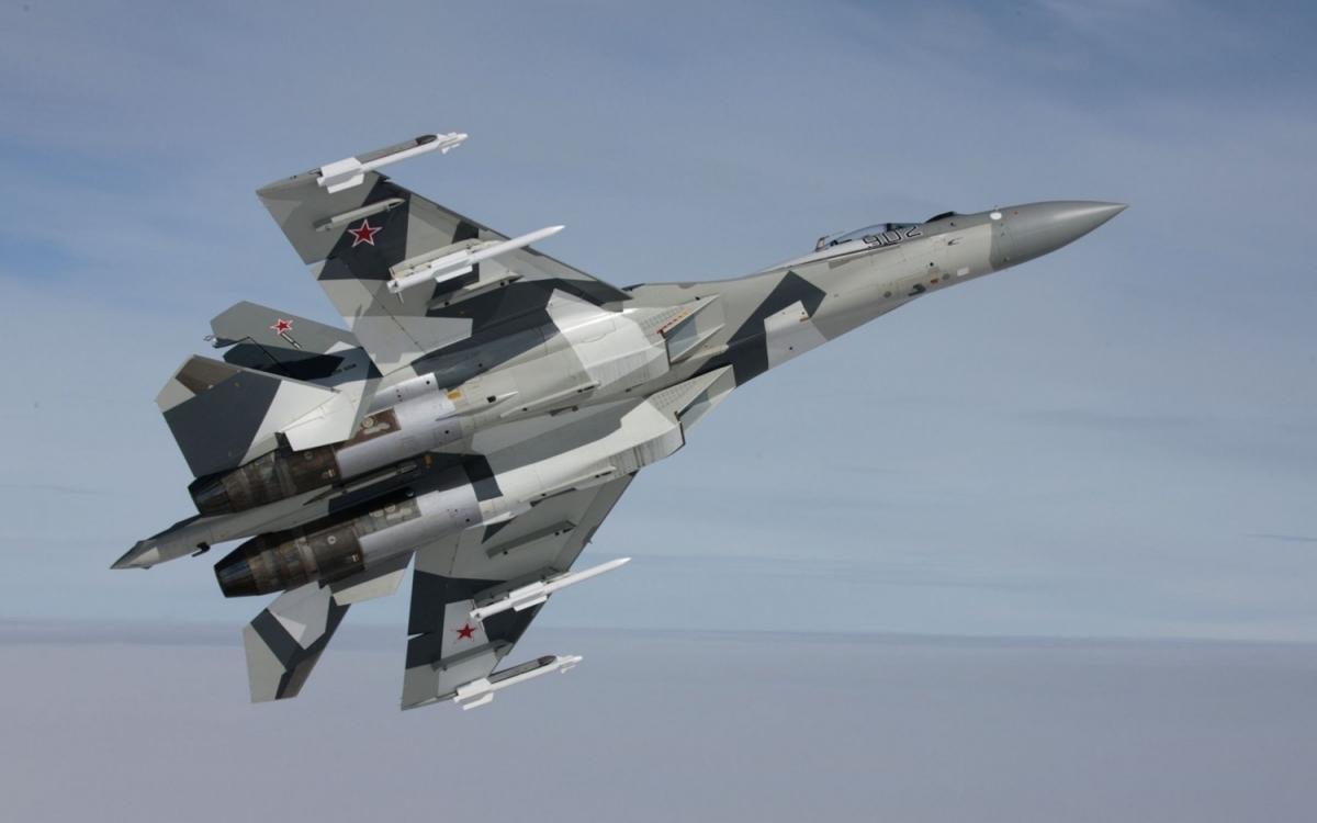 Máy bay Su-35 của Nga. Ảnh:Suwalls.