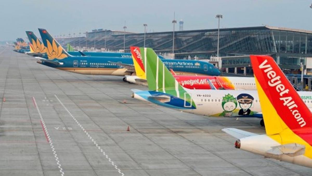 Các hãng hàng không hoạt động tại sân bay Nội Bài.