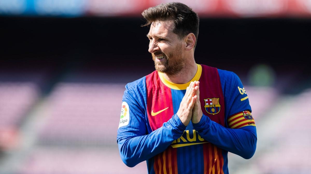 Barca vẫn chưa thể chính thức ký hợp đồng mới với Lionel Messi. (Ảnh: Getty)