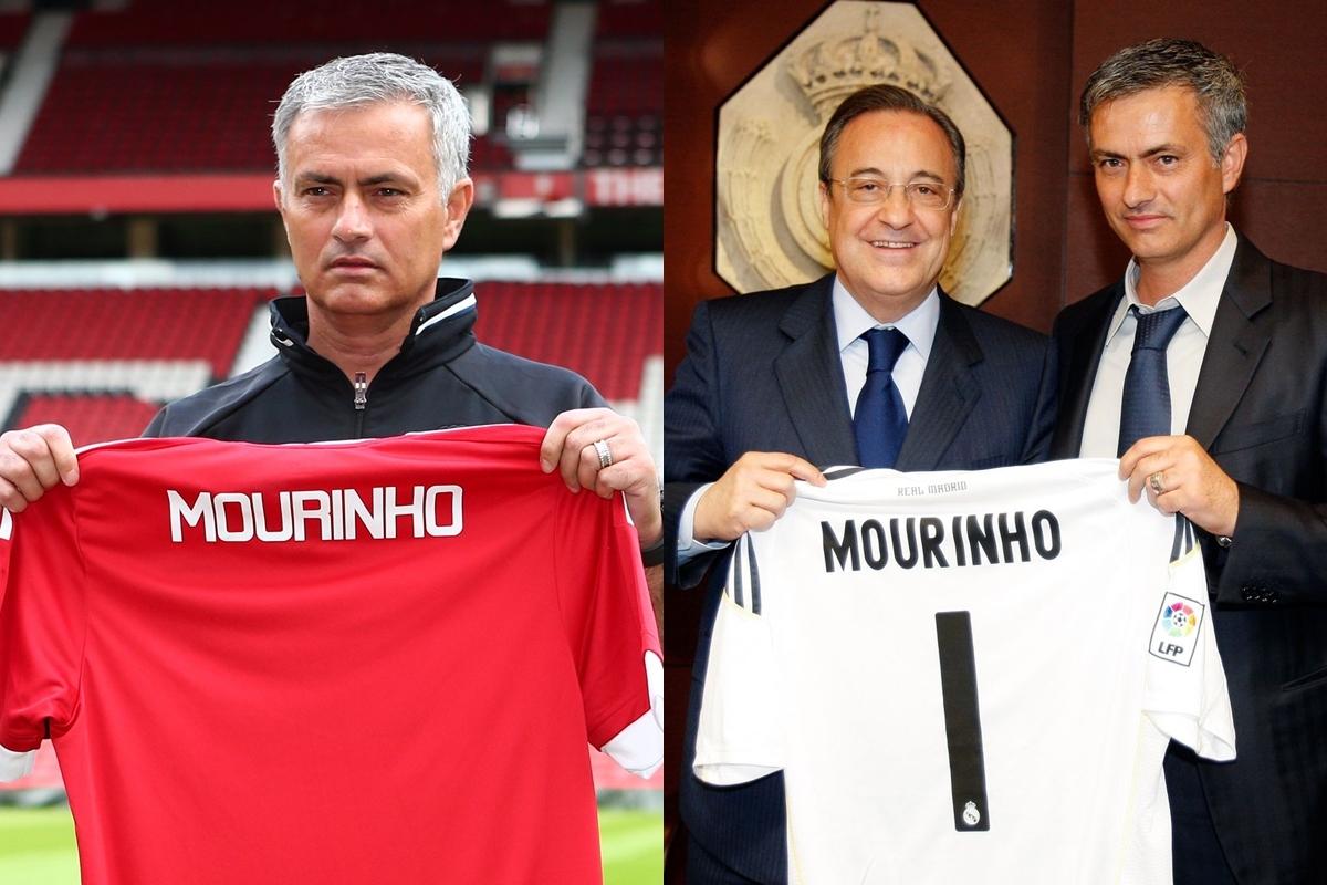 Trên băng ghế chỉ đạo, Jose Mourinho từng đảm nhiệm vai trò HLV trưởng ở MU (2016-2018) và Real Madrid (2010-2013).