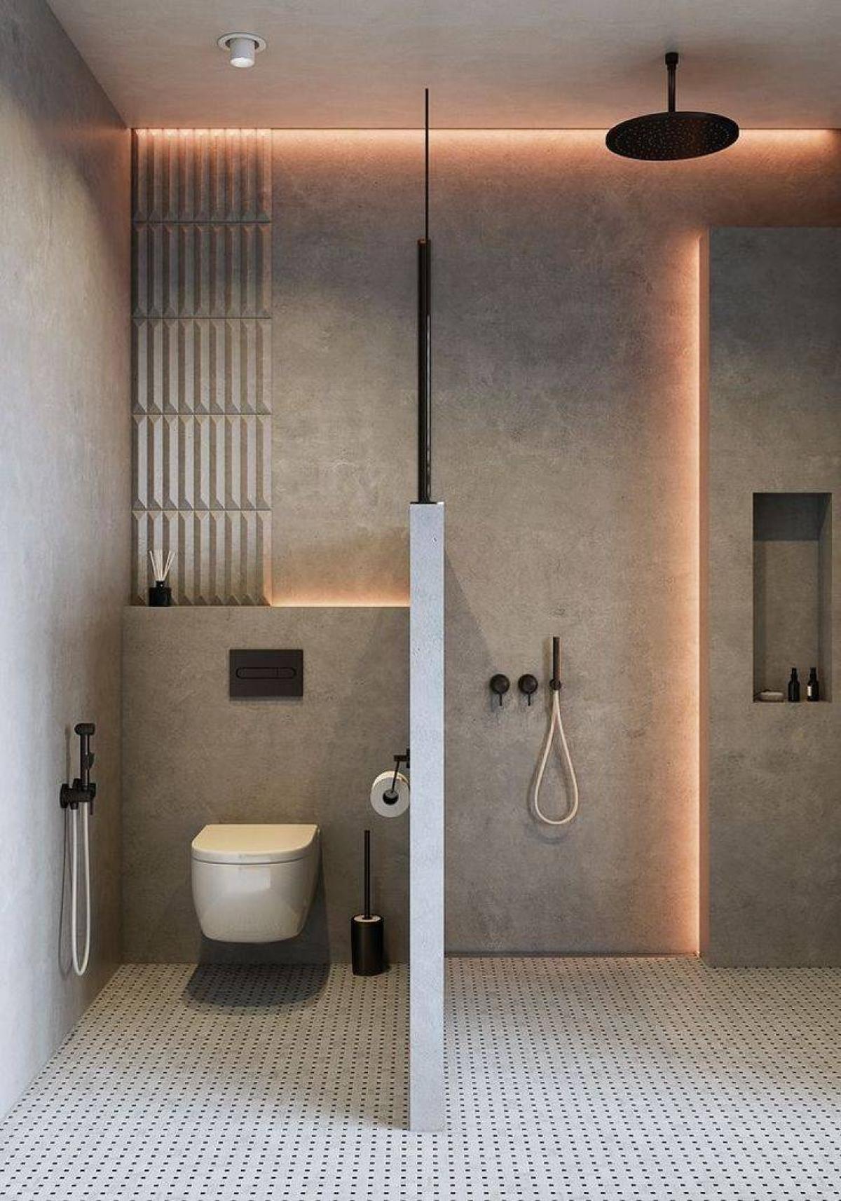 Ánh sáng không chỉ để chiếu sáng mà còn giúp tăng thêm vẻ đẹp cho không gian. Hãy cân nhắc mua các thiết bị chiếu sáng ít tiền hơn để có thể tôn lên vẻ đẹp của phòng tắm của bạn mà tiết kiệm ngân sách tối đa nhất.