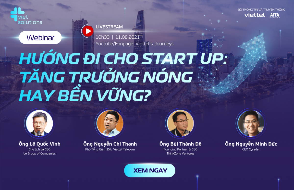 """""""HƯỚNG ĐI CHO STARTUP"""" – Chương trình đặc biệt do Viet Solutions 2021 tổ chức."""
