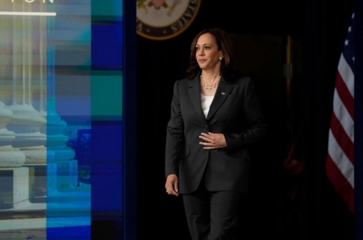 Phó Tổng thống Mỹ Kamala Harris. (Ảnh: Reuters)