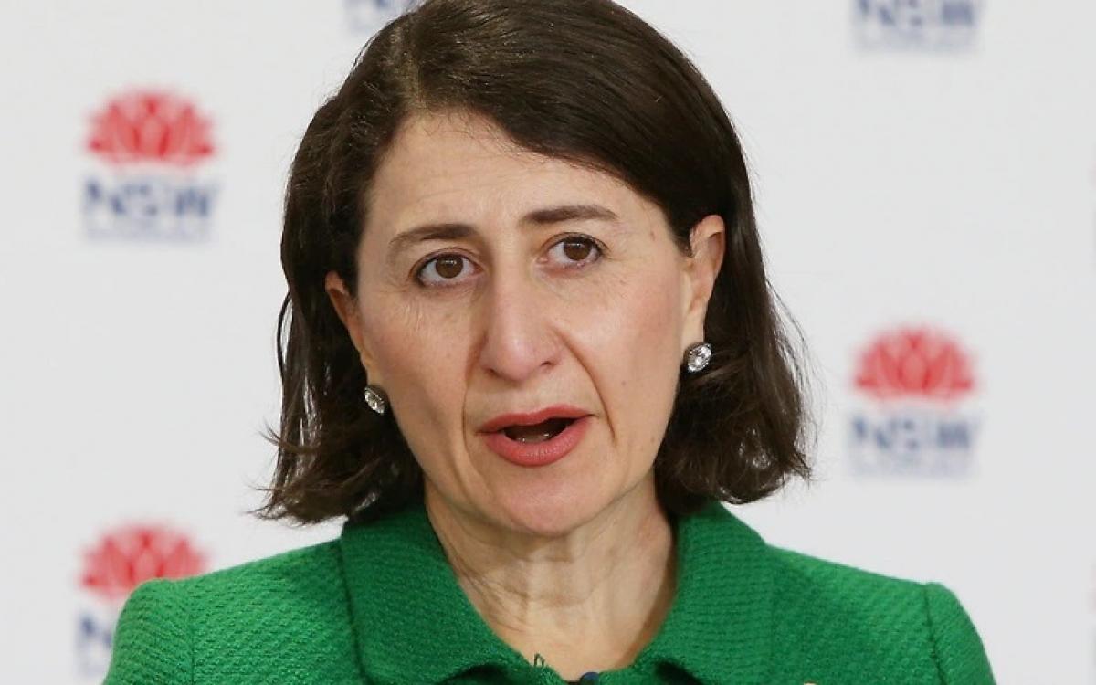 Bà Gladys Berejiklian, Thủ hiến bang New South Wales, Australia, cập nhật tình hình dịch bệnh Covid-19. Ảnh: Getty.