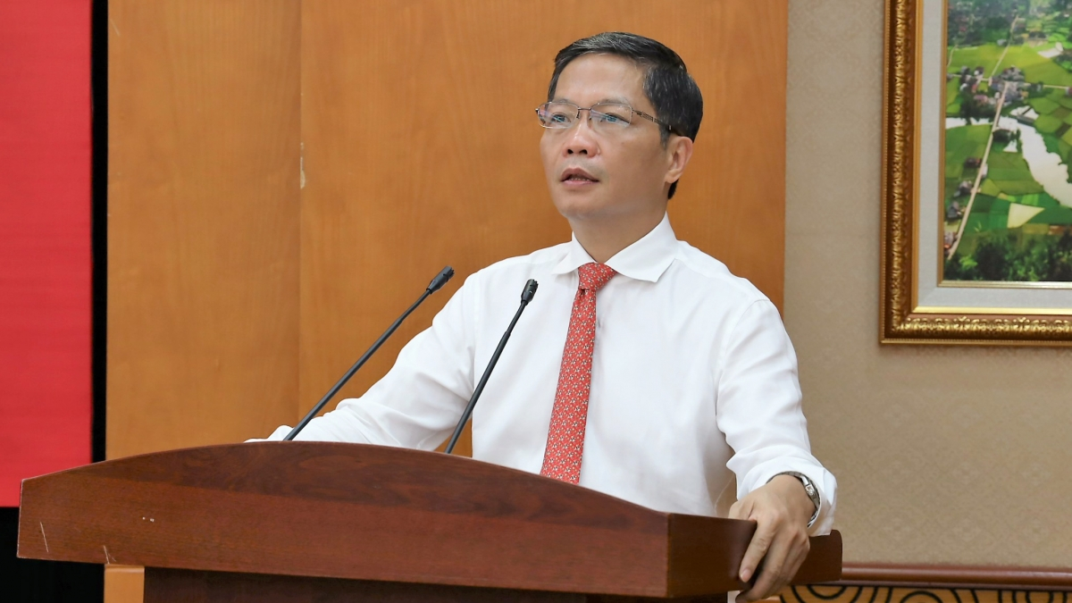 Trưởng Ban Kinh tế Trung ương Trần Tuấn Anh phát biểu tại lễ công bố quyết định