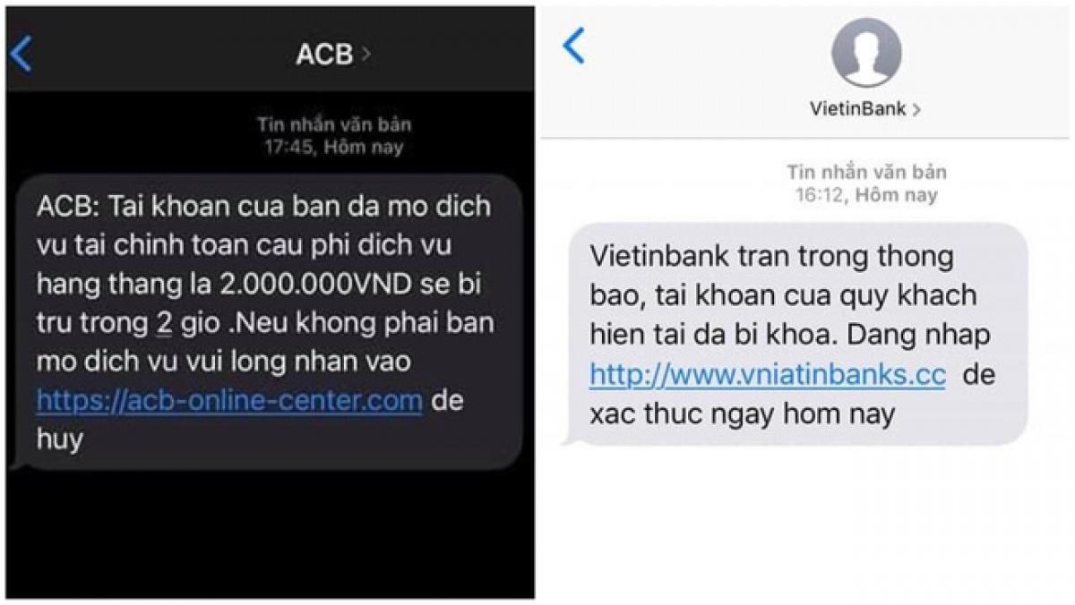 Nhiều dạng tin nhắn lừa đảo nhằm đánh cắp thông tin tài khoản ngân hàng. Ảnh minh họa: VTV.VN