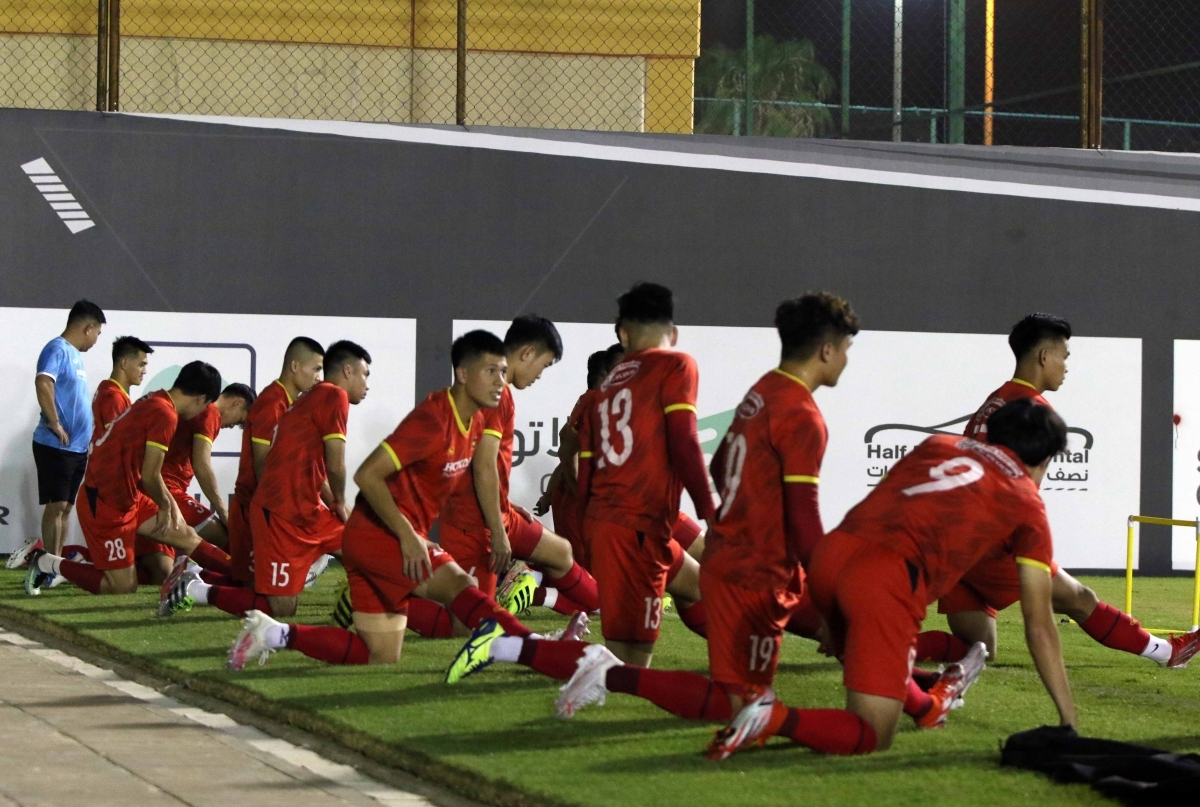 The Vietnamese players try their best to go into the game in top form so they are ready for the World Cup qualifiers.