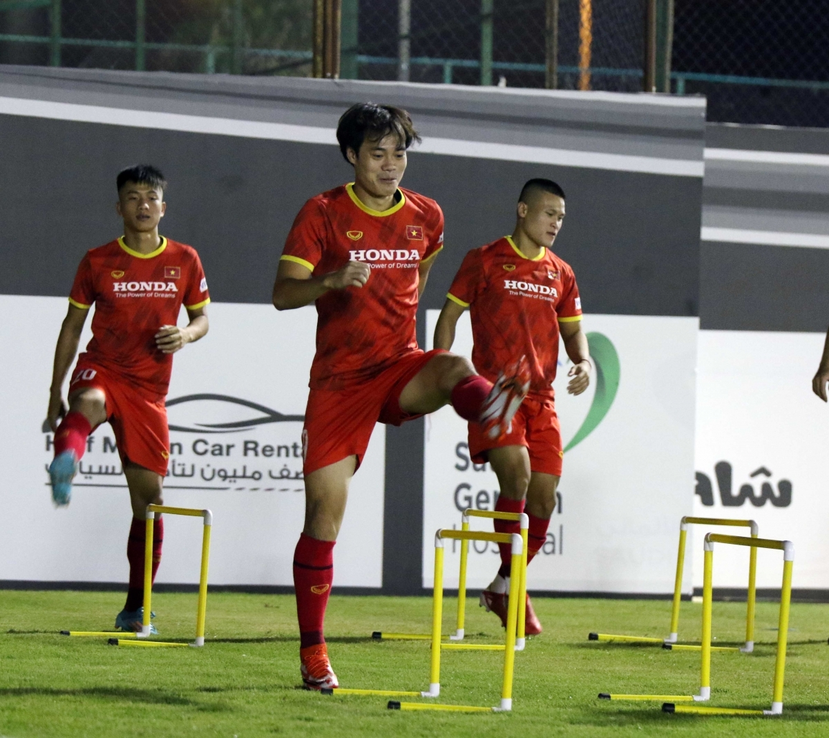 The training session helps to perfect the squad's line up for the World Cup qualifiers that are taking place in coming days.