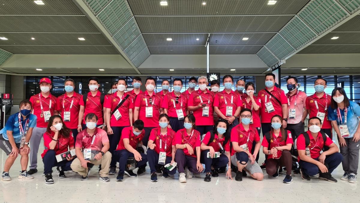 Đoàn Thể thao Việt Nam về nước sau hành trình tại Olympic Tokyo 2020 (Ảnh: TX).