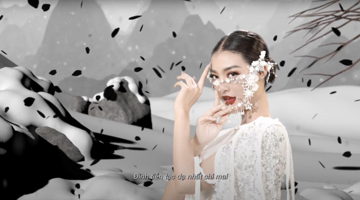 """Lona gây ấn tượng với tạo hình xinh đẹp trong MV """"Nhất chi mai""""."""
