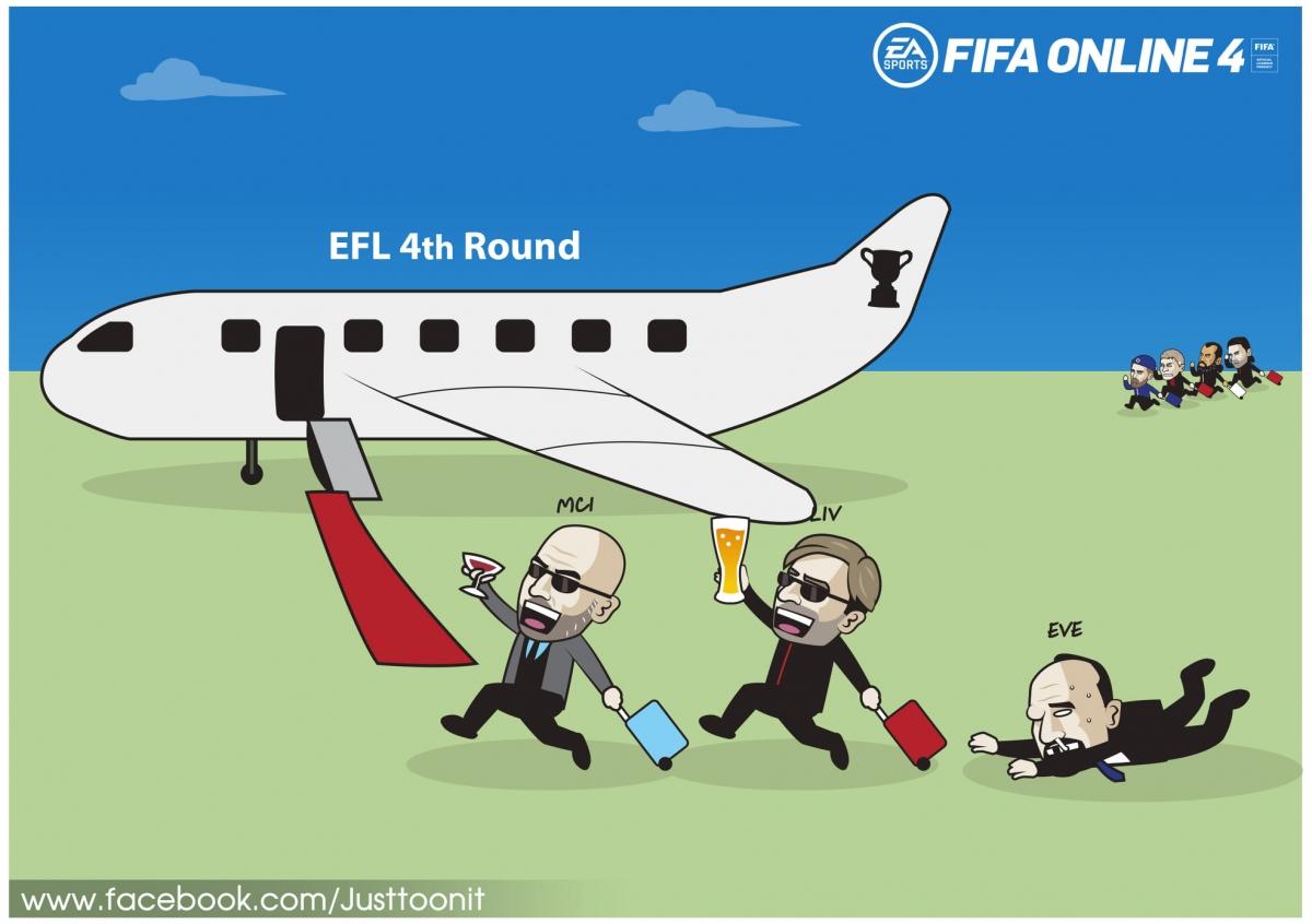 Man City và Liverpool giành vé sớm vào vòng 4 Cúp Liên đoàn Anh. (Ảnh: Just Toonit).