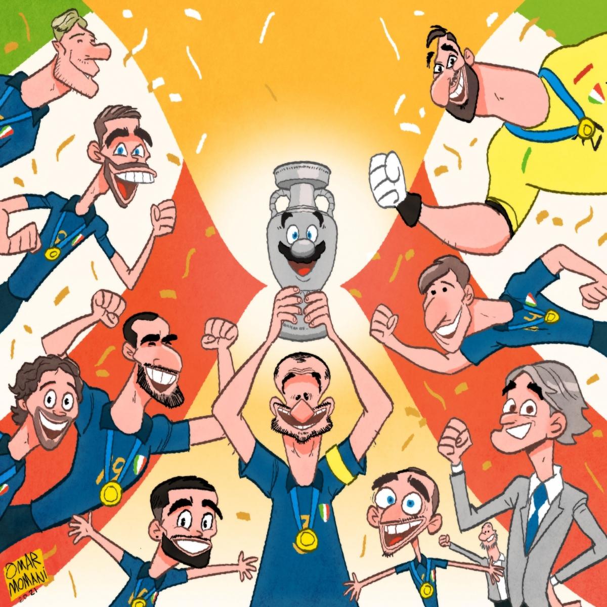 ĐT Italia đang giữ kỷ lục 36 trận bất bại. (Ảnh: Omar Momani).