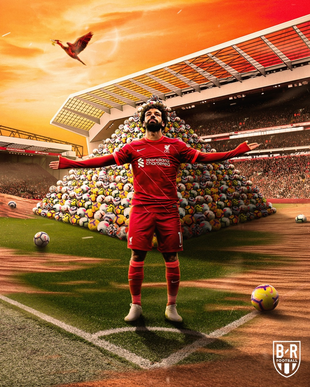 Salah cán mốc 100 bàn thắng ở Ngoại hạng Anh. (Ảnh: Bleacher Report).