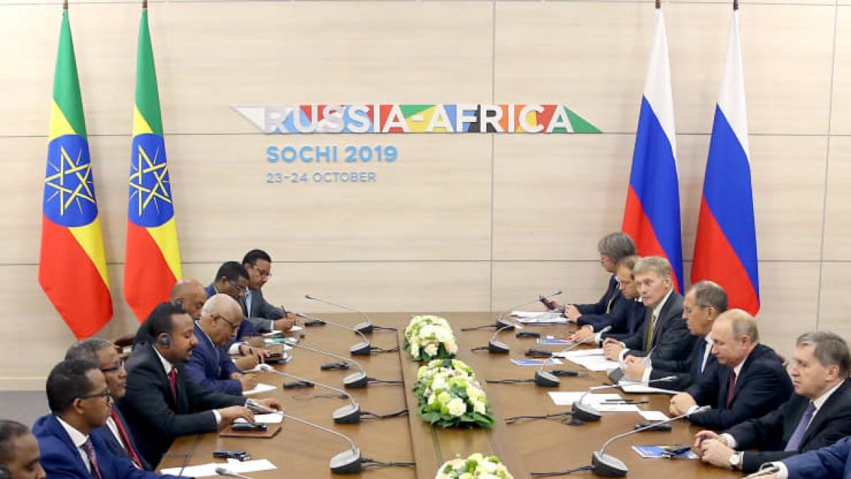 Hội nghị Thượng đỉnh Nga - châu Phi tại Sochi năm 2019. Ảnh: Getty.