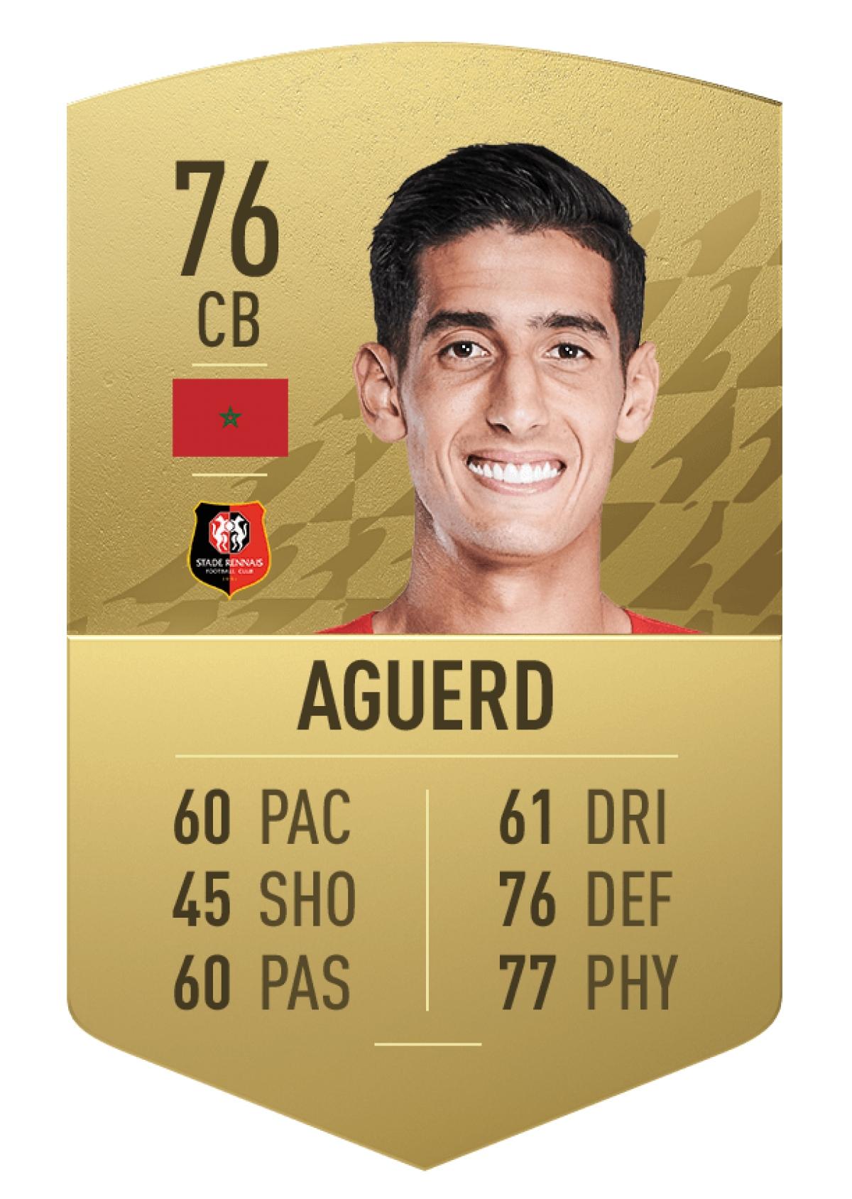 10. Trung vệ Nayef Aguerd | Rennes | Tổng chỉ số: 76 (+11 so với FIFA 21)