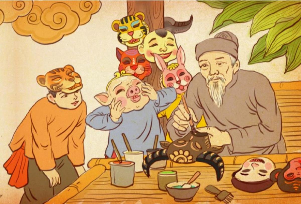 Mặt nạ giấy bồi - đồ chơi Trung thu truyền thống xưa được giới thiệu tại triển lãm