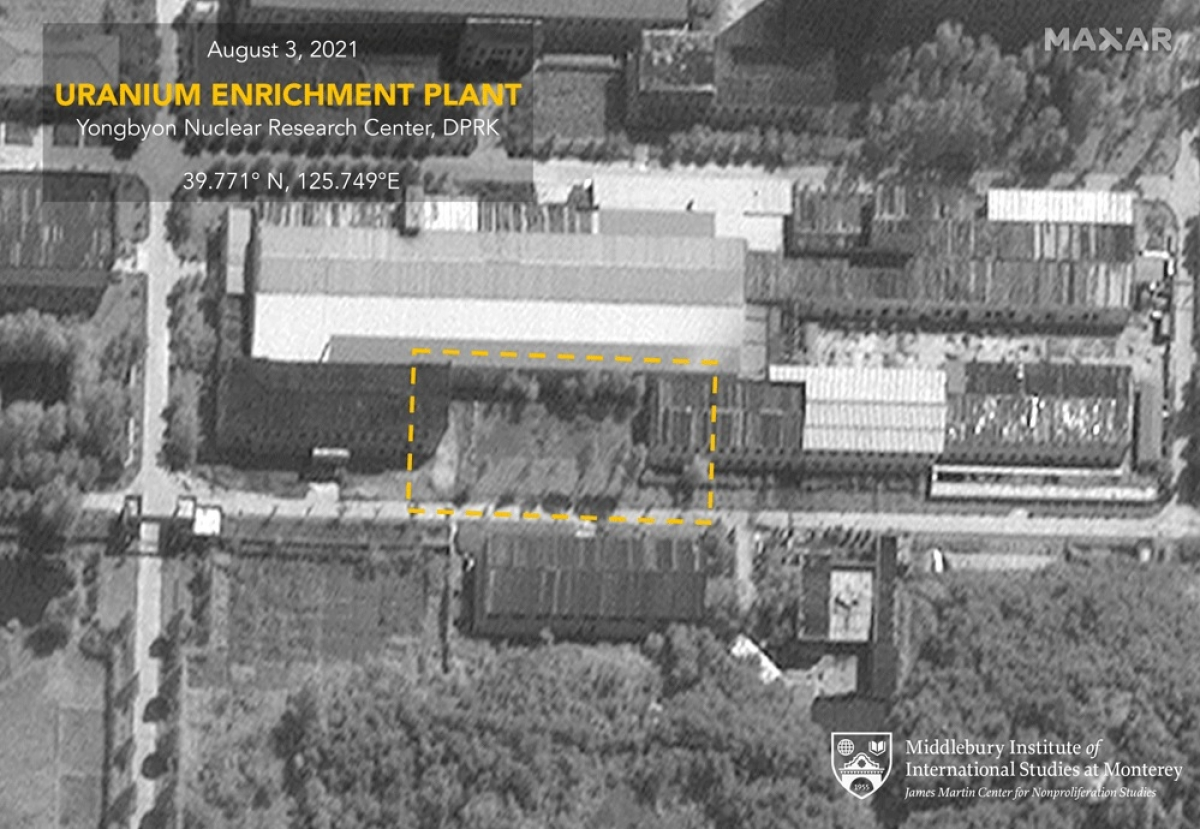 Ảnh vệ tinh cơ sở làm giàu urani tại cơ sở Yongbyon hôm 3/8. Ảnh: Maxar