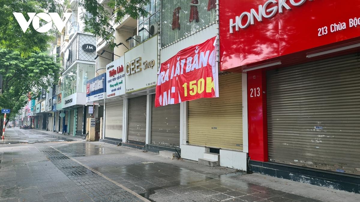 Nhiều DN, hộ kinh doanh phải đóng cửa do thực hiện việc giãn cách xã hội