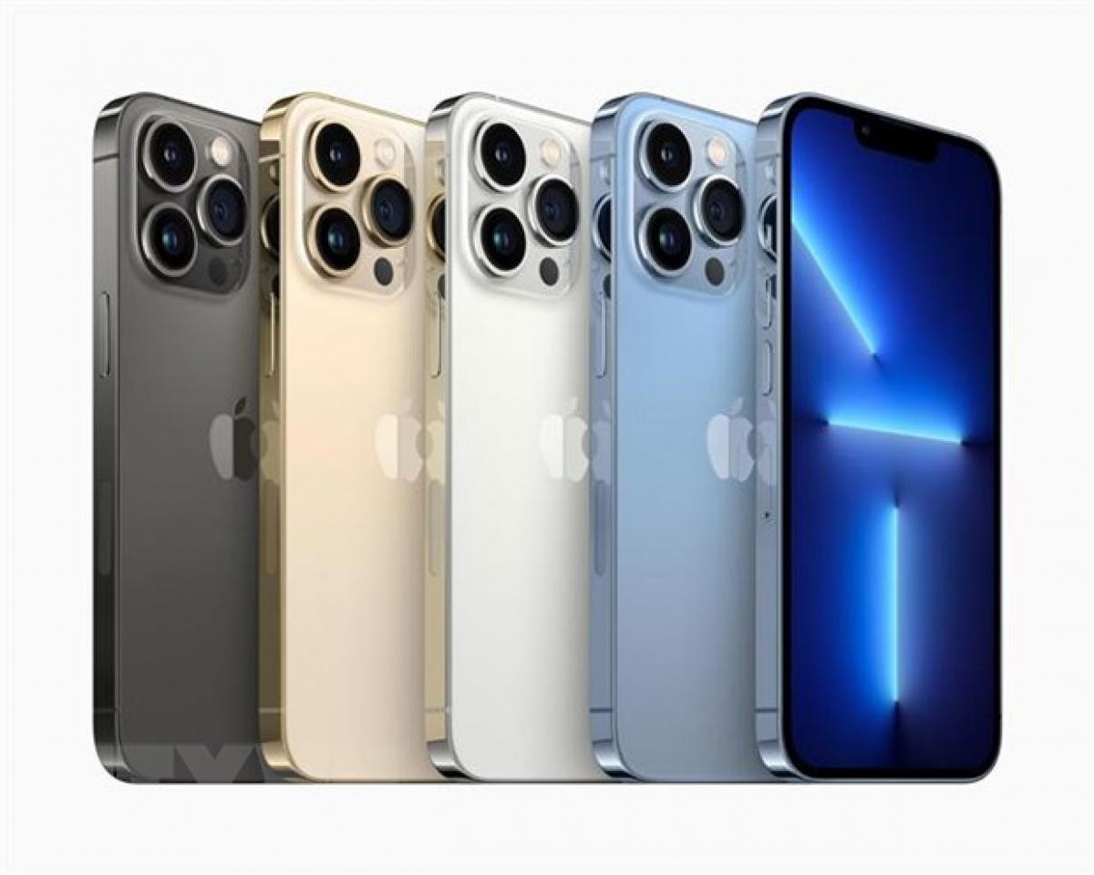 Dòng sản phẩm điện thoại thông minh iPhone 13 được ra mắt tại buổi lễ ở Cupertino, bang California, Mỹ ngày 14/9/2021
