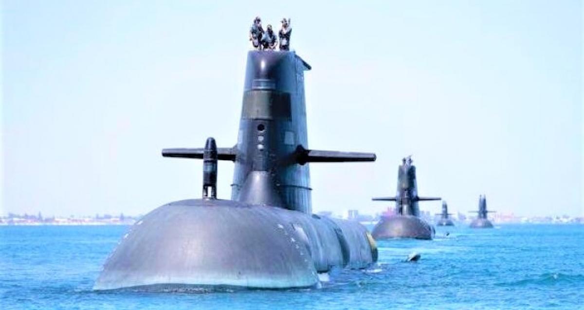 Hải quân Australia được trang bị các tàu ngầm tấn công điện diesel lớp Collins. Nguồn: Military Watch Magazine