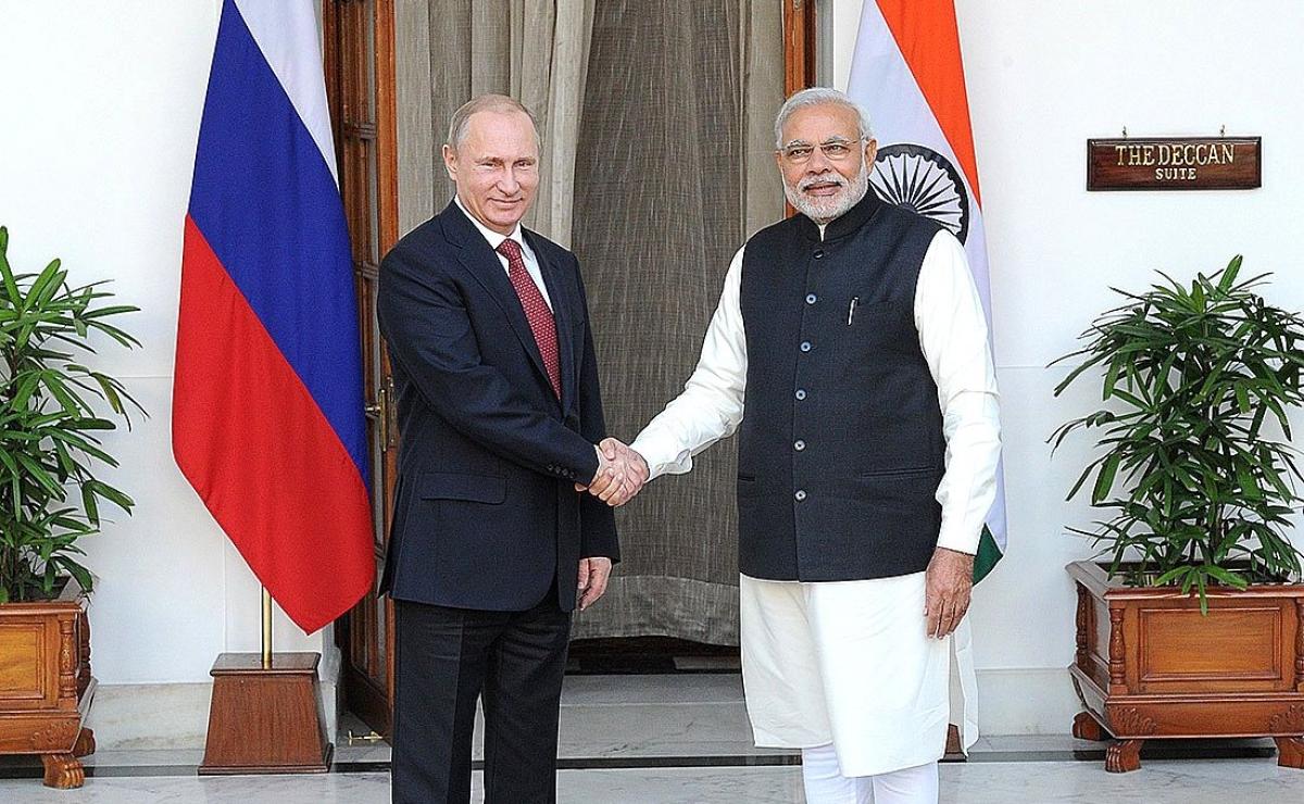 Tổng thống Nga Vladimir Putin và Thủ tướng Ấn Độ Narendra Modi; Nguồn: oneworld.press