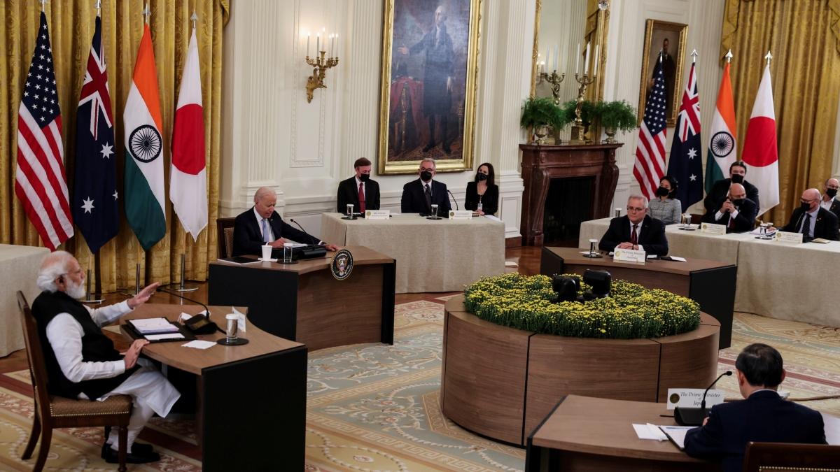 Lãnh đạo nhóm Bộ Tứ tái khẳng định thúc đẩy trật tự mở, tự do và dựa trên luật lệ trên cơ sở luật pháp quốc tế và không bị cưỡng ép cũng như củng cố an ninh và thịnh vượng ở Ấn Độ Dương-Thái Bình Dương (Ảnh: Reuters).