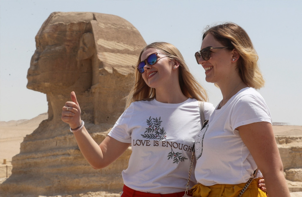 Du khách Nga chiếm thị phần quan trọng đối với ngành du lịch của Ai Cập. (Ảnh: Ahram)