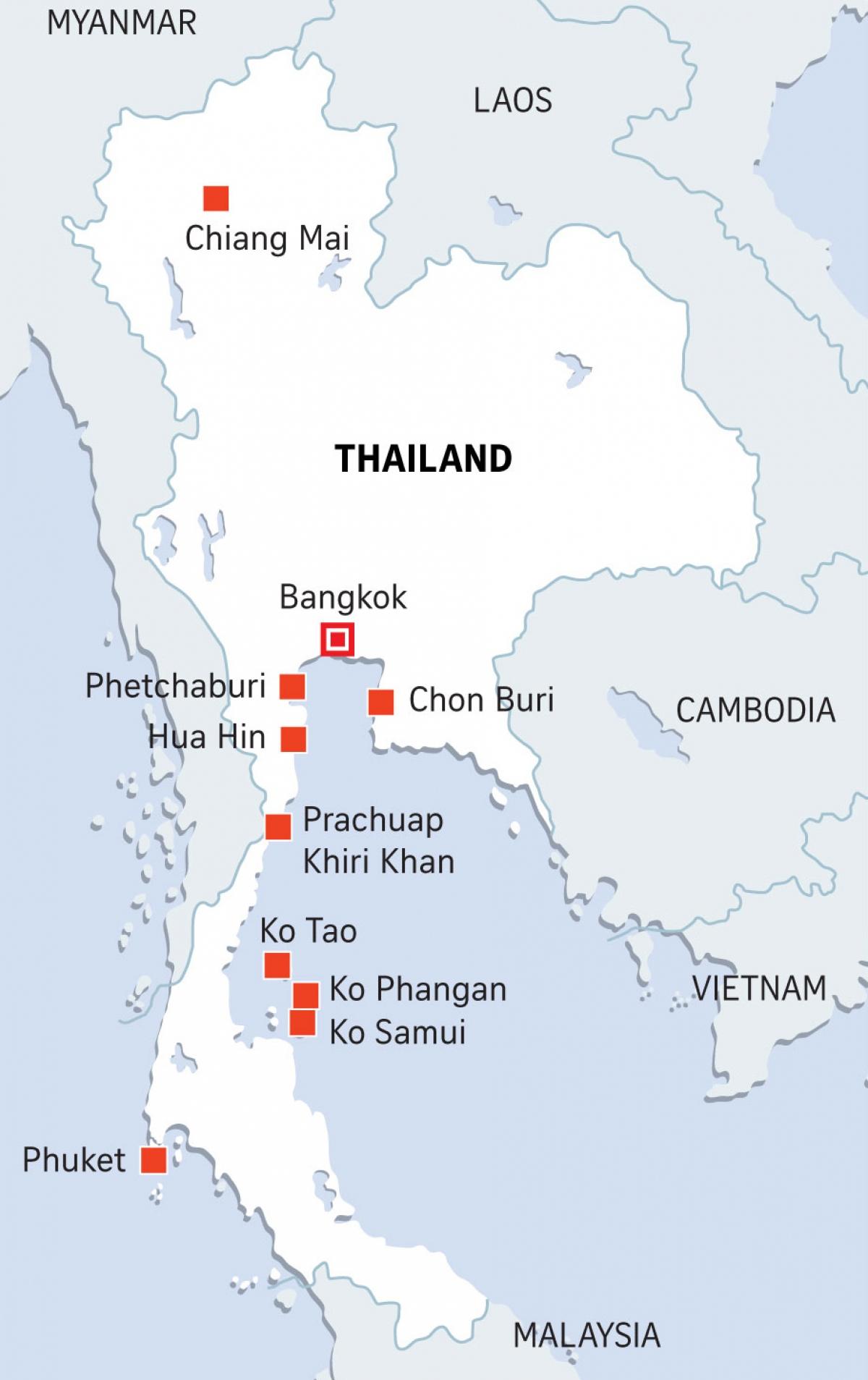 Các khu vực trong kế hoạch mở cửa du lịch quốc tế của Thái Lan, mở đầu là Phuket. Nguồn: Straits Times