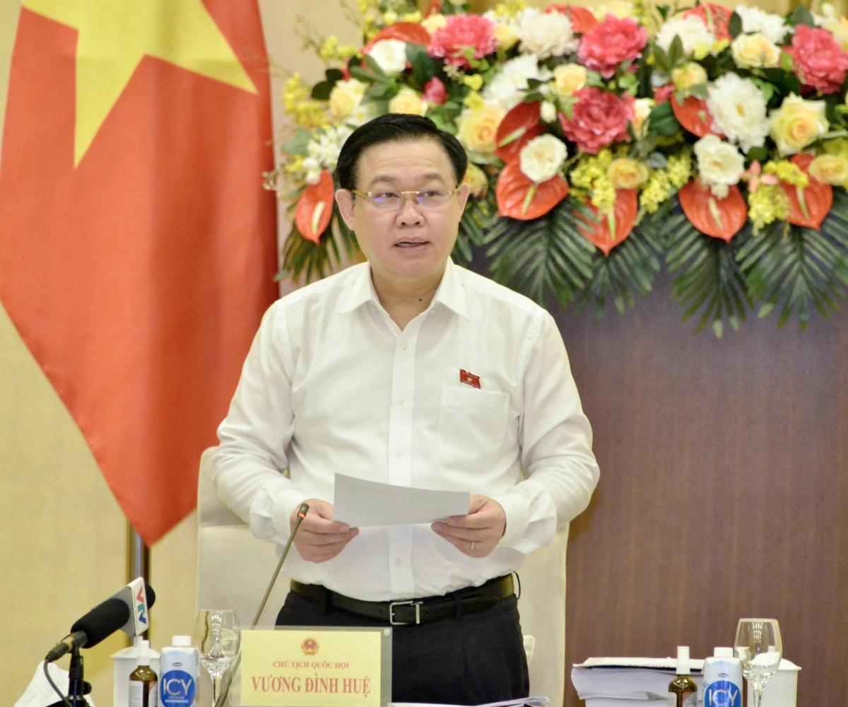 Chủ tịch Quốc hội phát biểu chỉ đạo tại cuộc làm việc