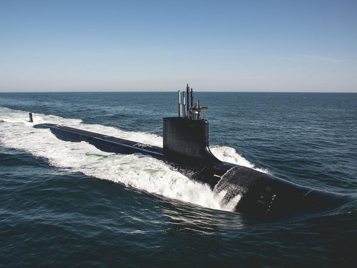 Tàu ngầm tấn công chạy bằng hạt nhân lớp Virginia Block III USS Delaware. Ảnh: Hải quân Mỹ.