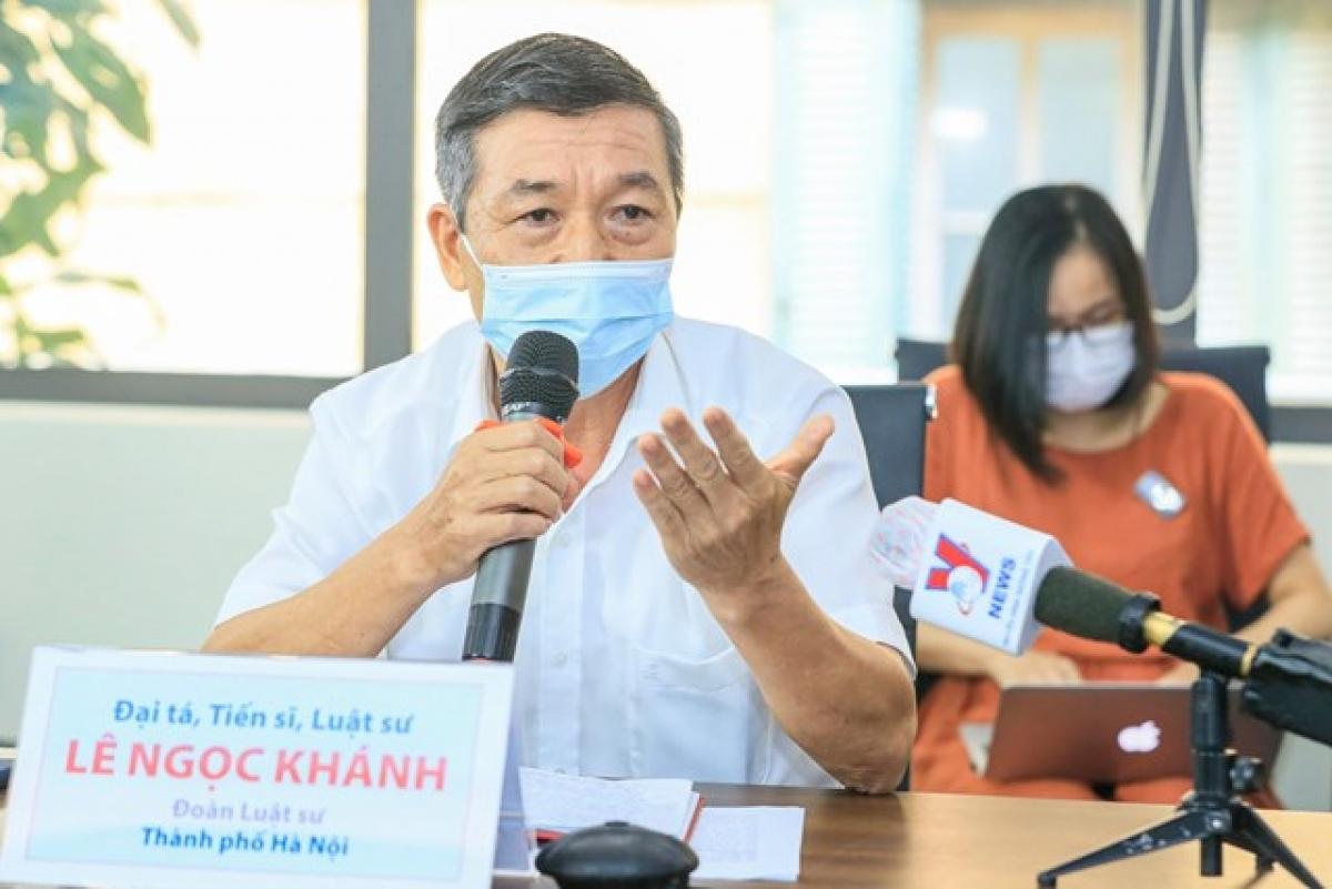 Tiến sĩ, Luật sư Lê Ngọc Khánh. Ảnh: Quang Vinh.