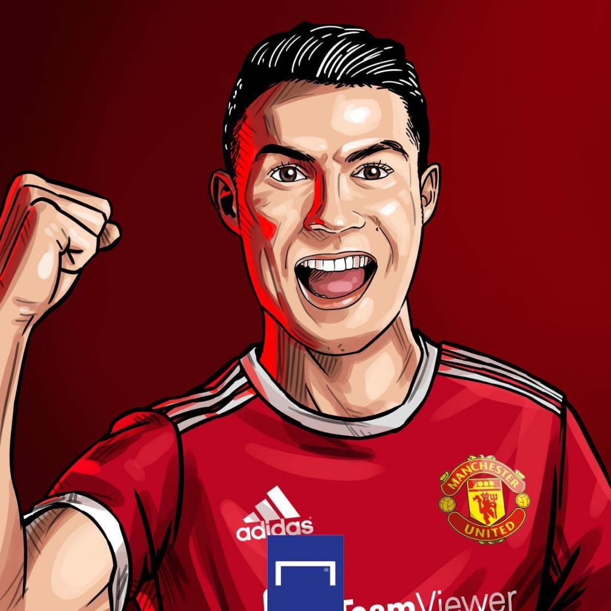 Cristiano Ronaldo ghi liền 4 bàn trong 3 trận cho MU. (Ảnh: Goal)