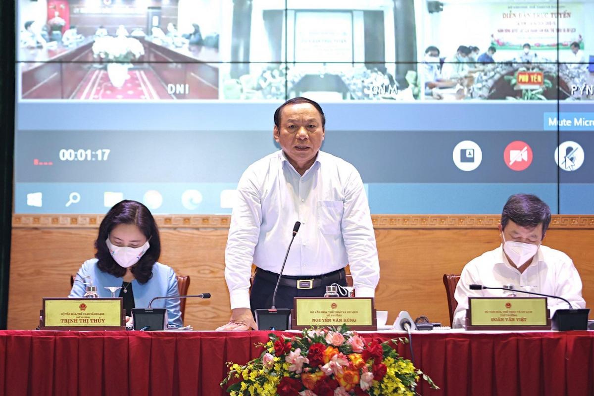 Bộ trưởng Bộ Văn hóa, Thể thao và Du lịch Nguyễn Văn Hùng. Ảnh: Minh Khánh.