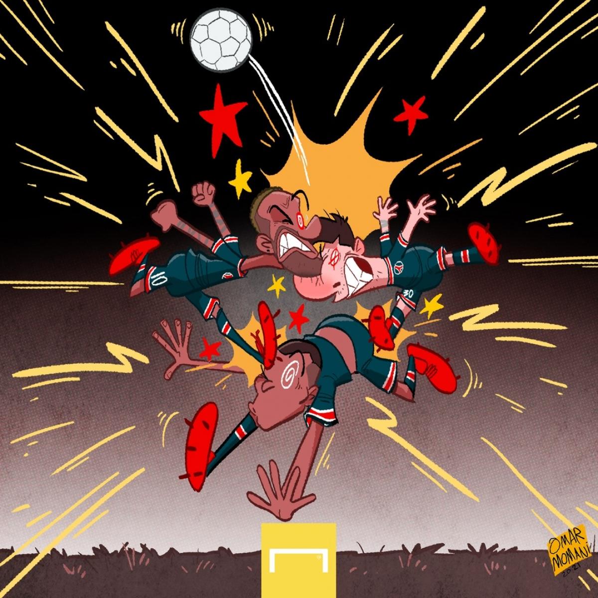 Messi - Neymar - Mbappe không thể chơi bóng cùng nhau. (Ảnh: Omar Momani)