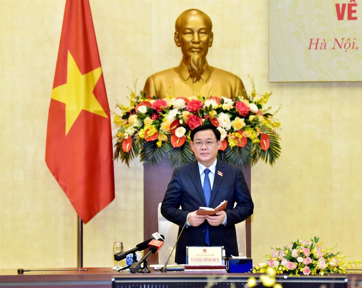 Chủ tịch Quốc hội Vương Đình Huệ kết luận cuộc tọa đàm