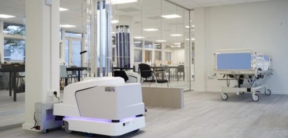 Robot khử trùng do EU cung cấp