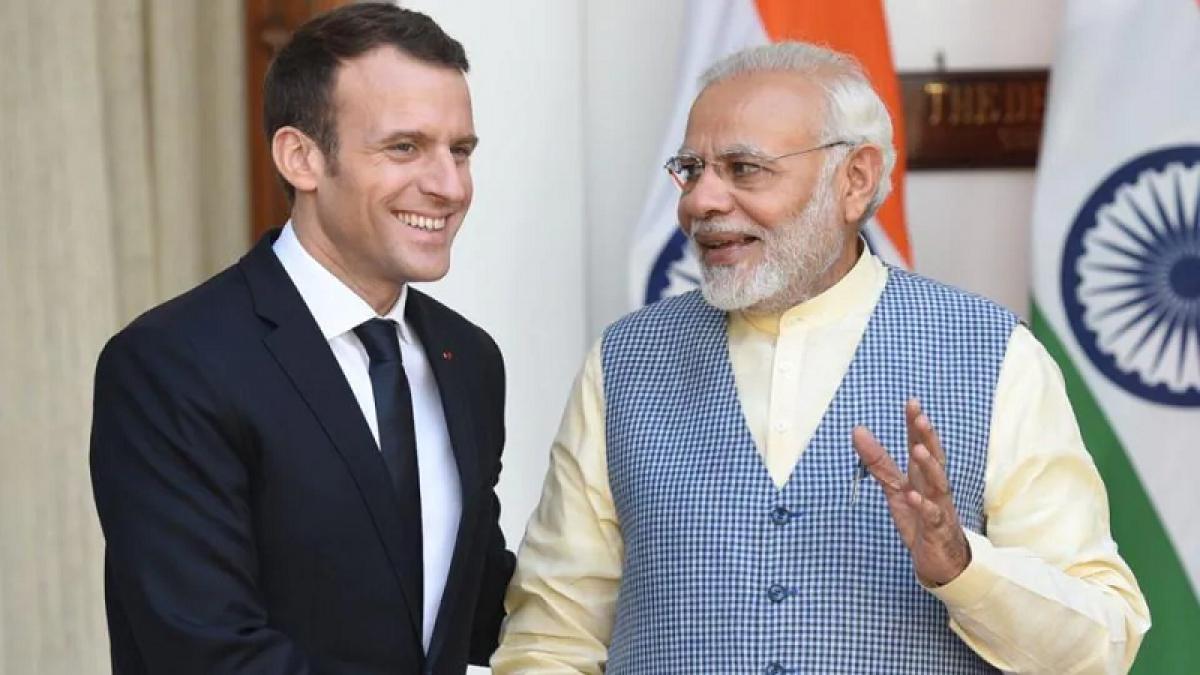 Tổng thống Pháp Emmanuel Macron và Thủ tướng Ấn Độ Narendra Modi. Nguồn: wikipedia.org