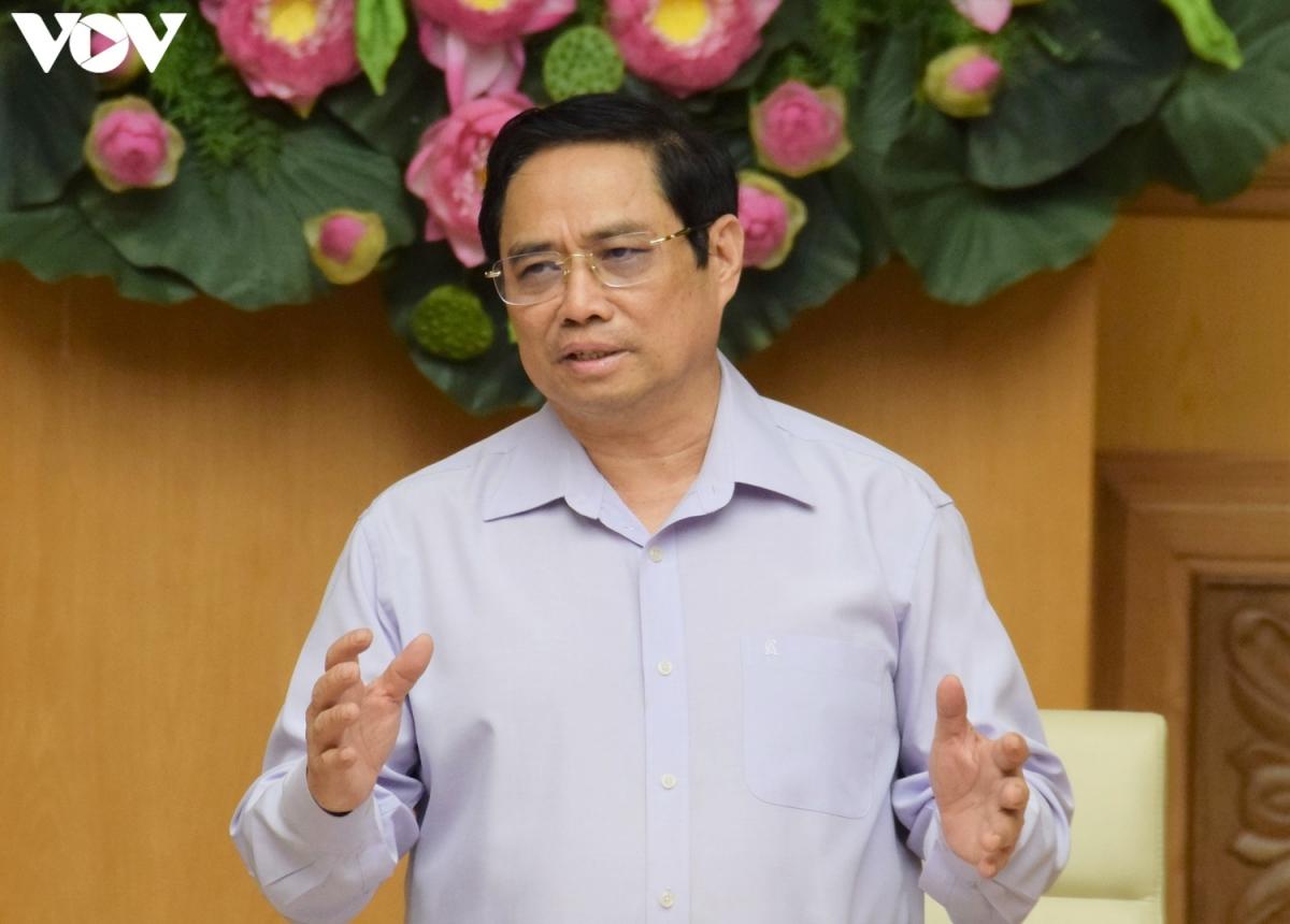 Thủ tướng Phạm Minh Chính phát biểu tại buổi làm việc