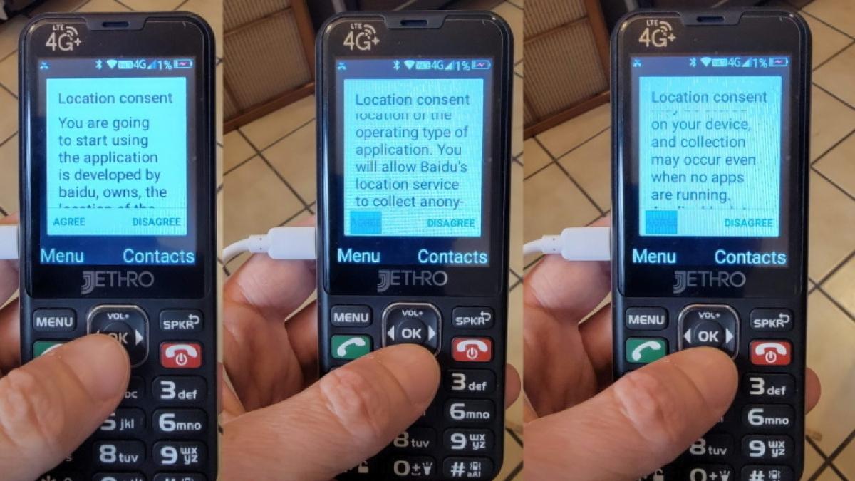 Một chiếc điện thoại giá rẻ sản xuất ở Trung Quốc đang bán trên Amazon cũng lấy dữ liệu người dùng Mỹ