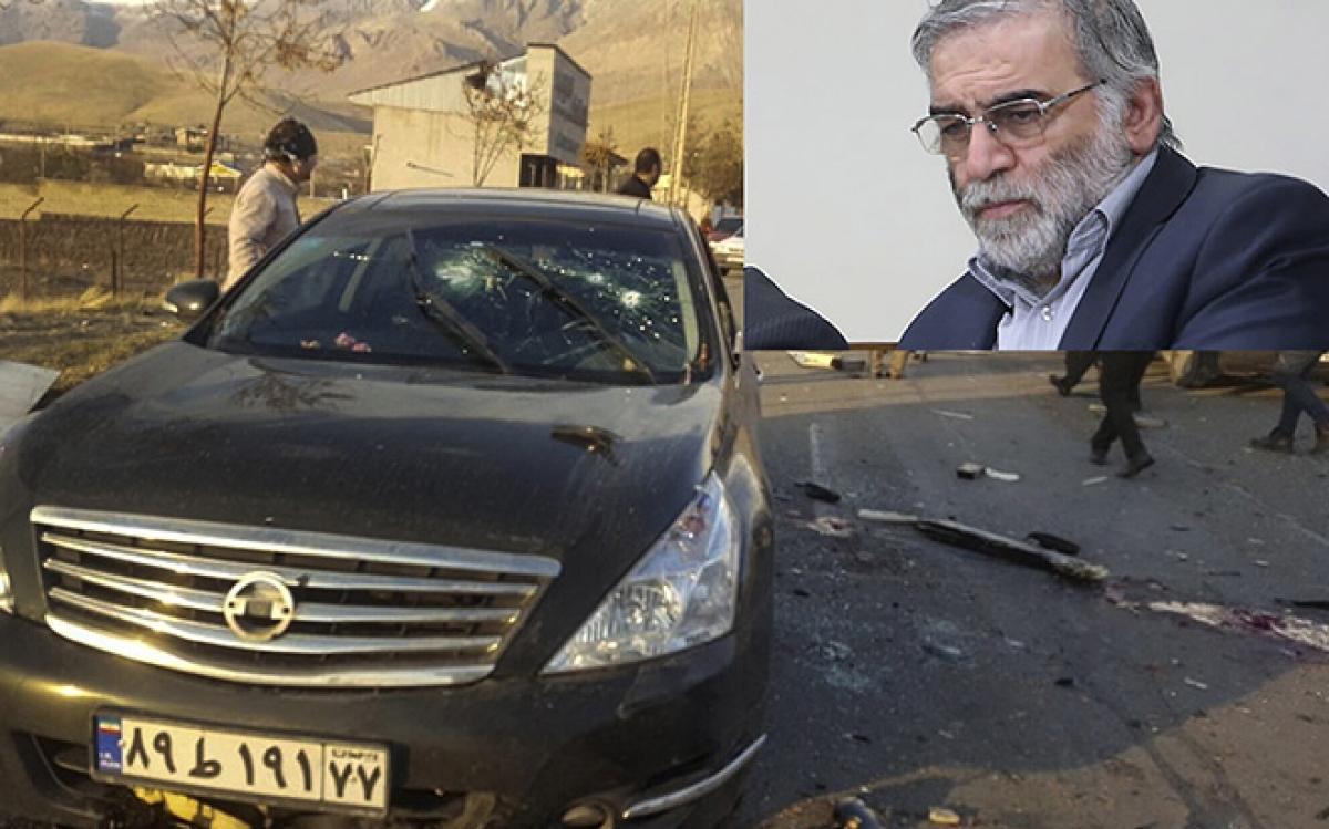 Nhà khoa học hạt nhân Iran Mohsen Fakhrizadeh và hiện trường nơi ông bị sát hại.