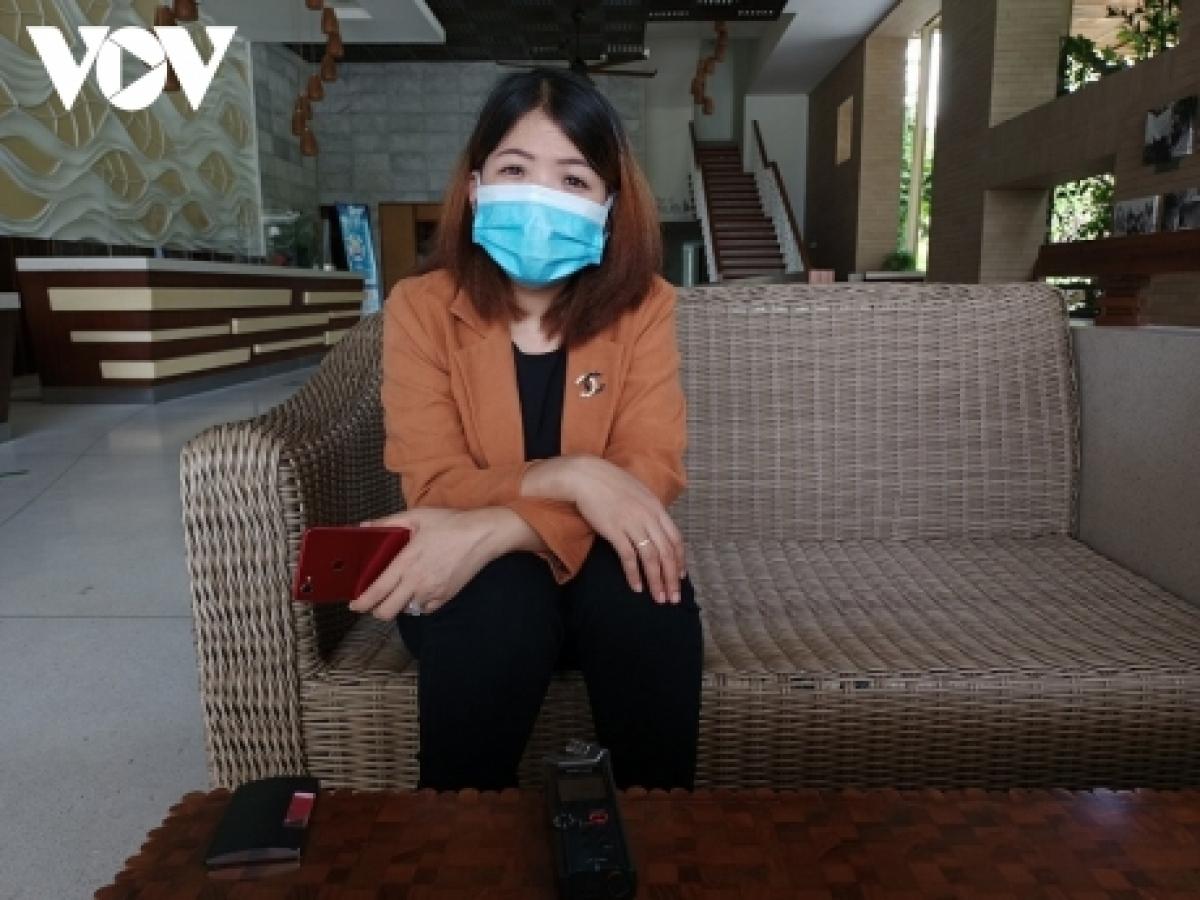 Bà Võ Thuỳ Loan - Phó Giám đốc Công ty Cổ phần thương mại - du lịch dốc đá Phú Hài