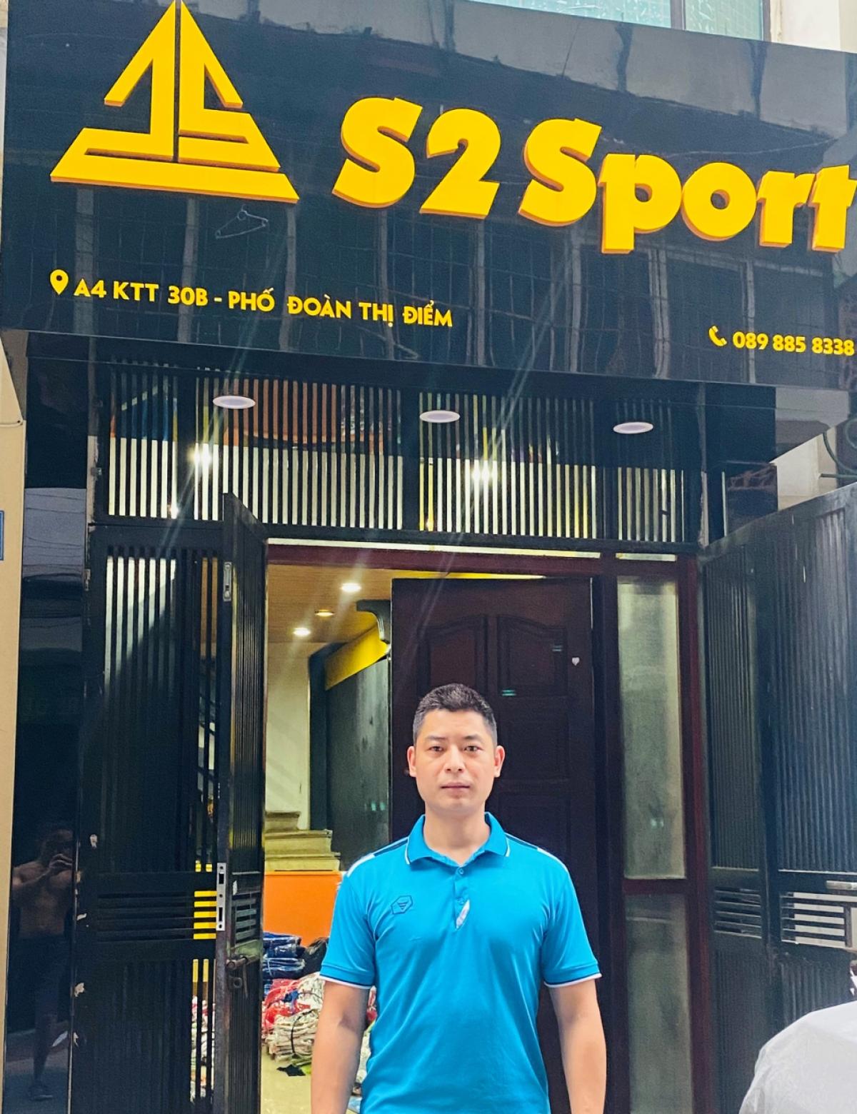 Một cửa hàng kinh doanh thời trang thể thao Trường An Sport tại Đống Đa, Hà Nội.