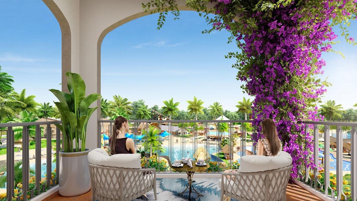 Không gian nghỉ dưỡng chan hòa với thiên nhiên tại biệt thự đồi giáp biển The Tropicana.