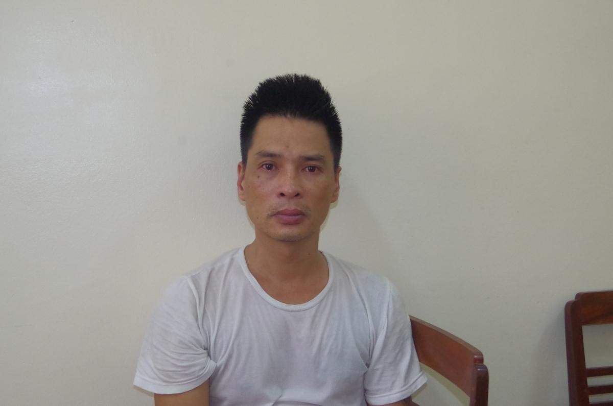 Đối tượng Nguyễn Thanh Tuấn tại cơ quan điều tra.