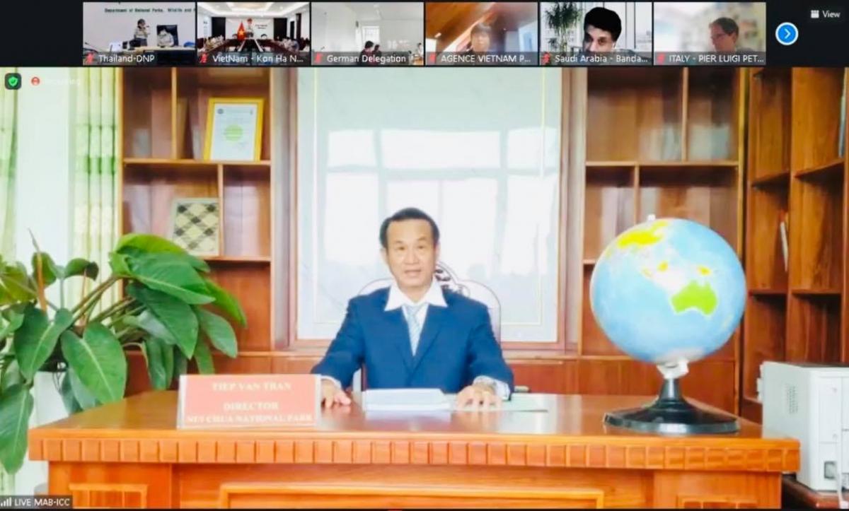 Đại diện tỉnh Ninh Thuận phát biểu tại phiên họp