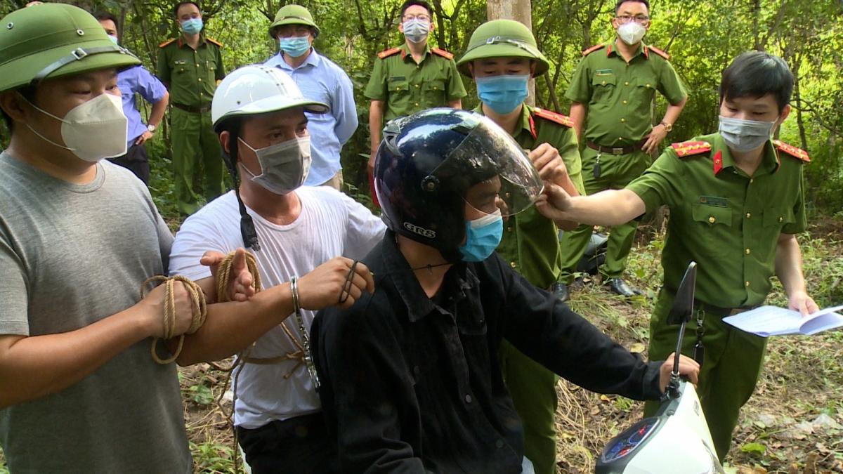 Công an tỉnh Thái Nguyên tiến hành thực nghiệm hiện trường vụ án.