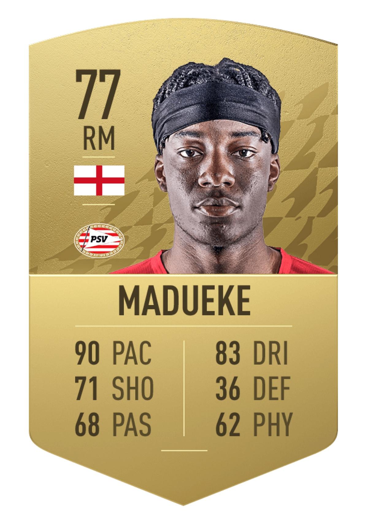 6. Tiền vệ Noni Madueke | PSV | Tổng chỉ số: 77 (+11 so với FIFA 21)